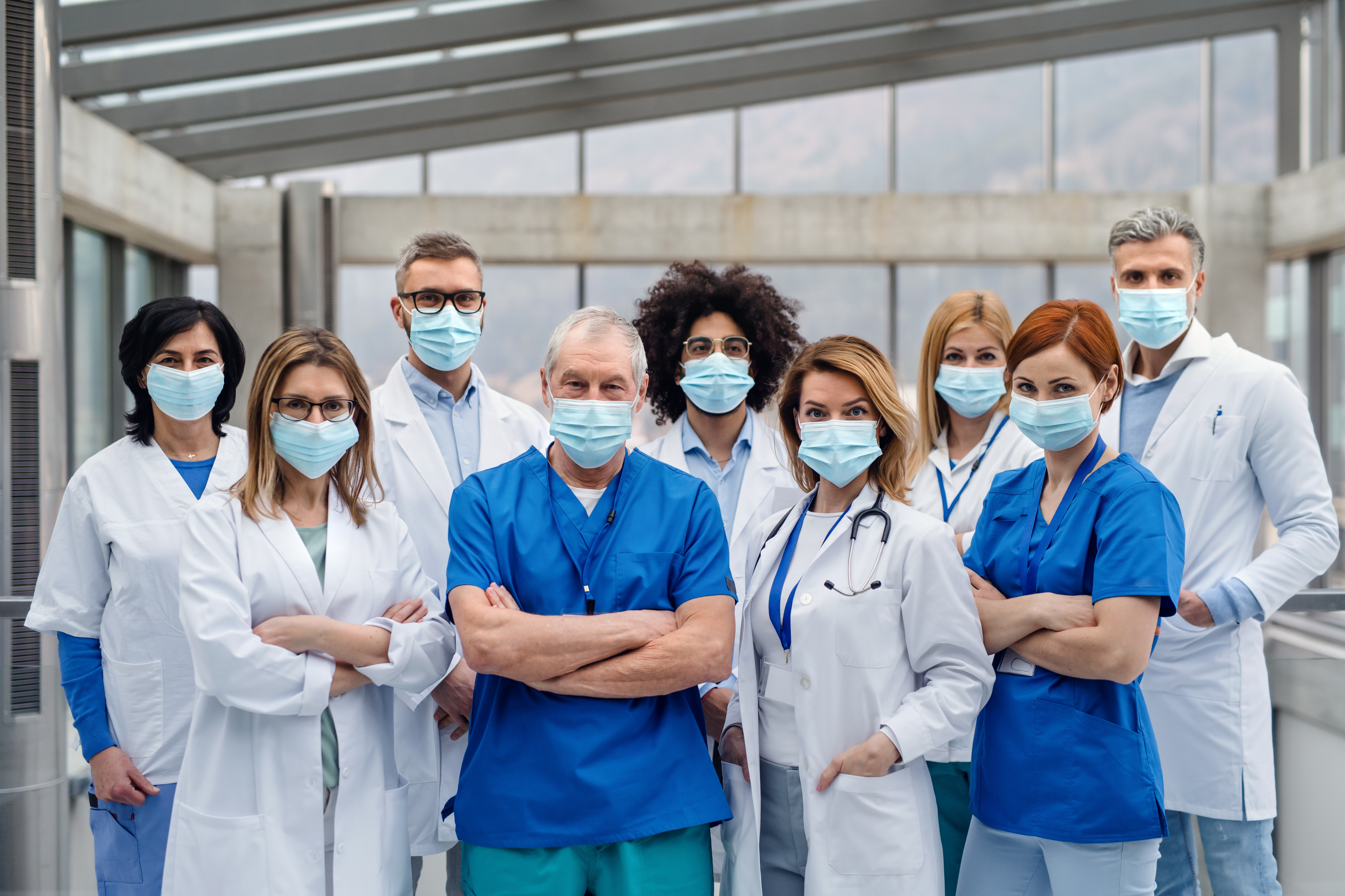 masked physicians